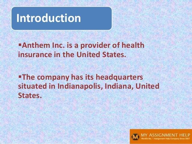 Anthem SWOT analysis Slide 2