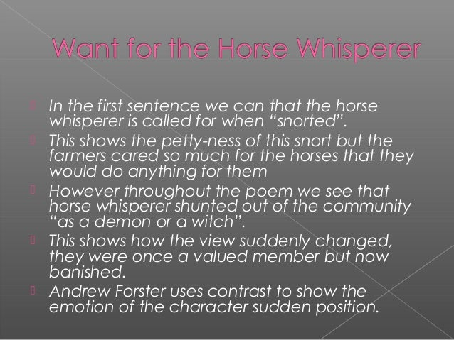 The Horse Whisperer by Nicolas Evans Essay