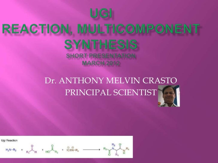 Dr. ANTHONY MELVIN CRASTO     PRINCIPAL SCIENTIST