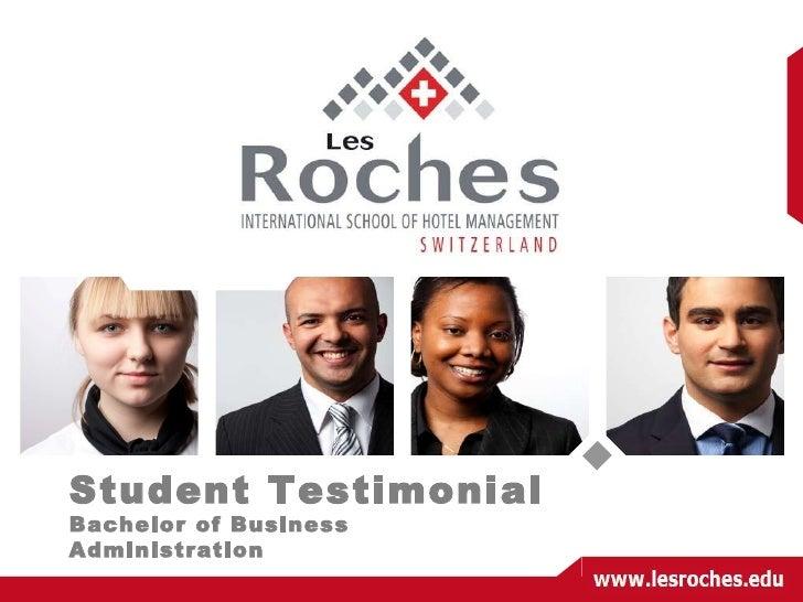 Student Testimonial Bachelor of Business Administration