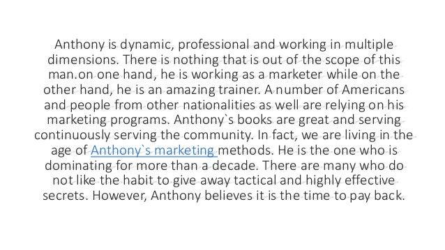 Anthony Morrison Has Become a Phenomenon Slide 3