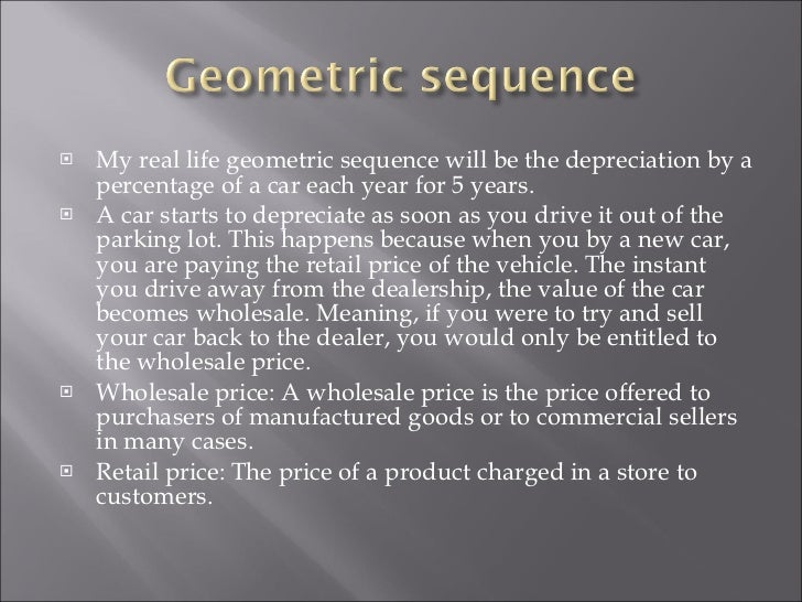 Geometric sequence real life example youtube.