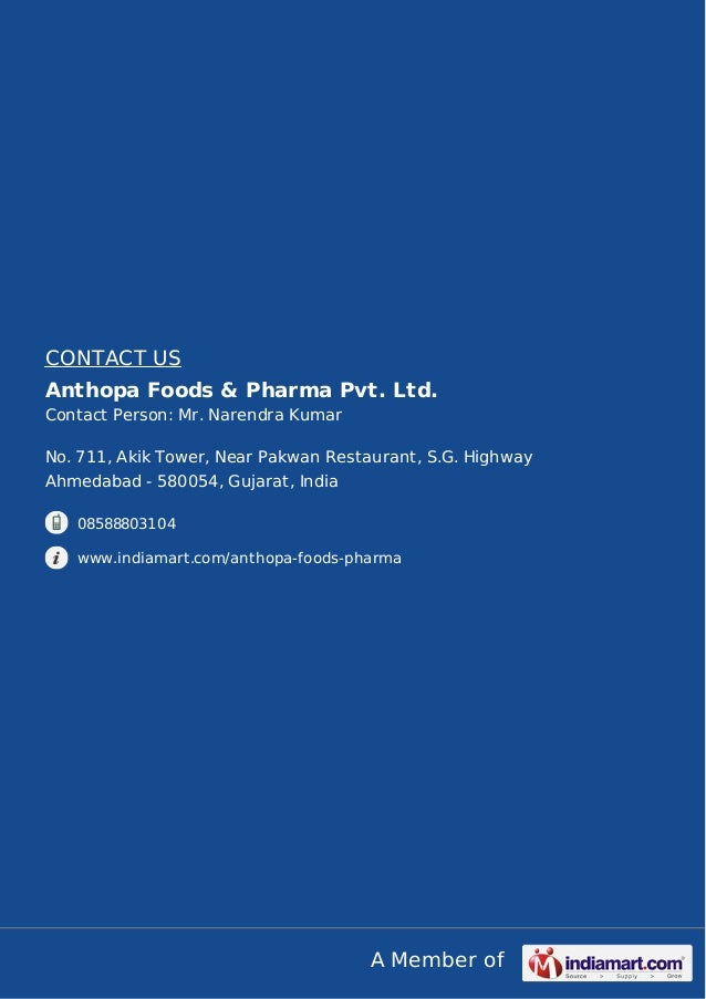 Anthopa foods pharma pvt ltd ahmedabad indian spices for City indian dining ltd t a spice trader