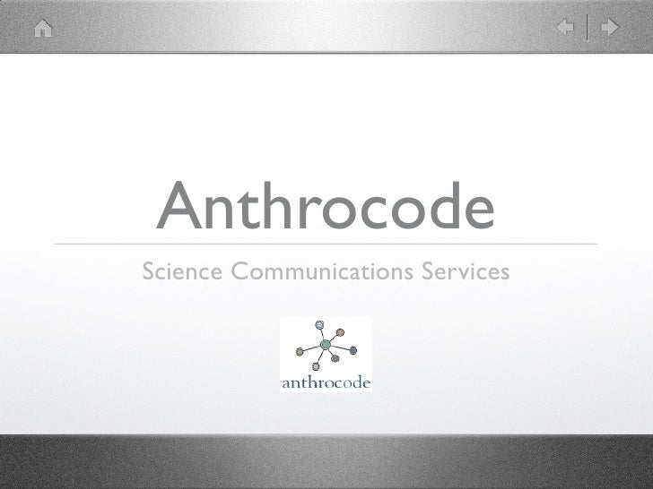 Anthrocode Science Communications Services