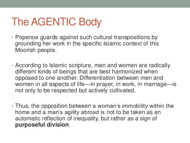 The AGENTIC Body • Popenoe guards against such cultural transpositions by grounding her work in the specific Islamic conte...