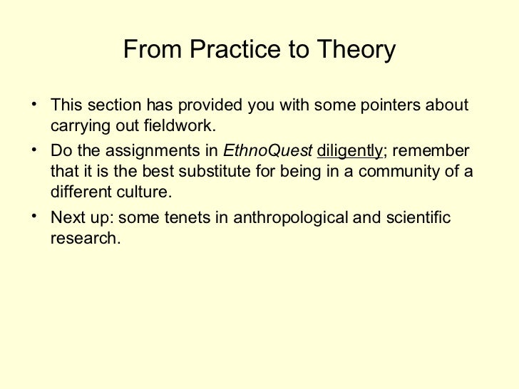anthropoligical fieldwork essay Chapter 5 methods in cultural  ethnographic fieldwork is different from research in a chemistry or physics laboratory because  essay 1 how important is it.