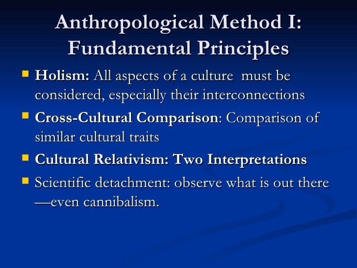 Anthropological Research and Theory
