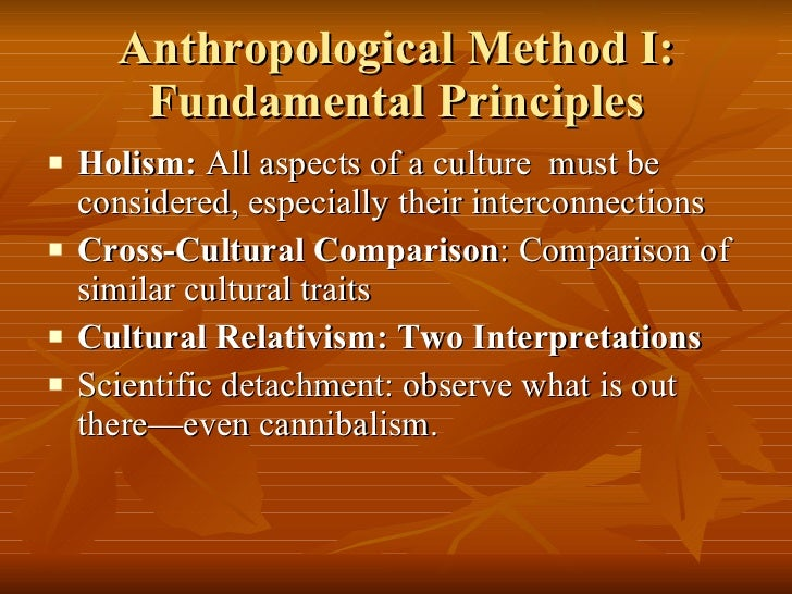 A comparison of anthropological research and scientific research