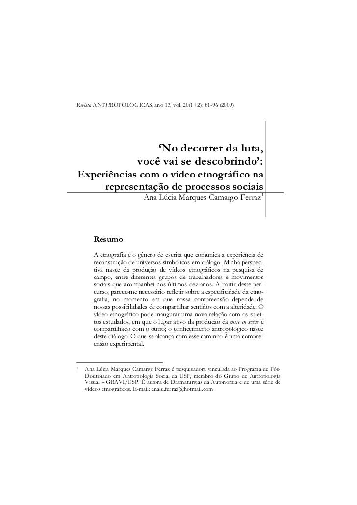 Revista ANTHROPOLÓGICAS, ano 13, vol. 20(1+2): 81-96 (2009)                                                               ...