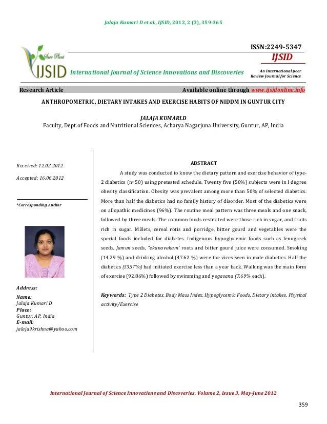 Jalaja Kumari D et al., IJSID, 2012, 2 (3), 359-365                                                                       ...