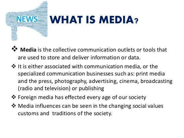 influence of media on youth  Slide 2