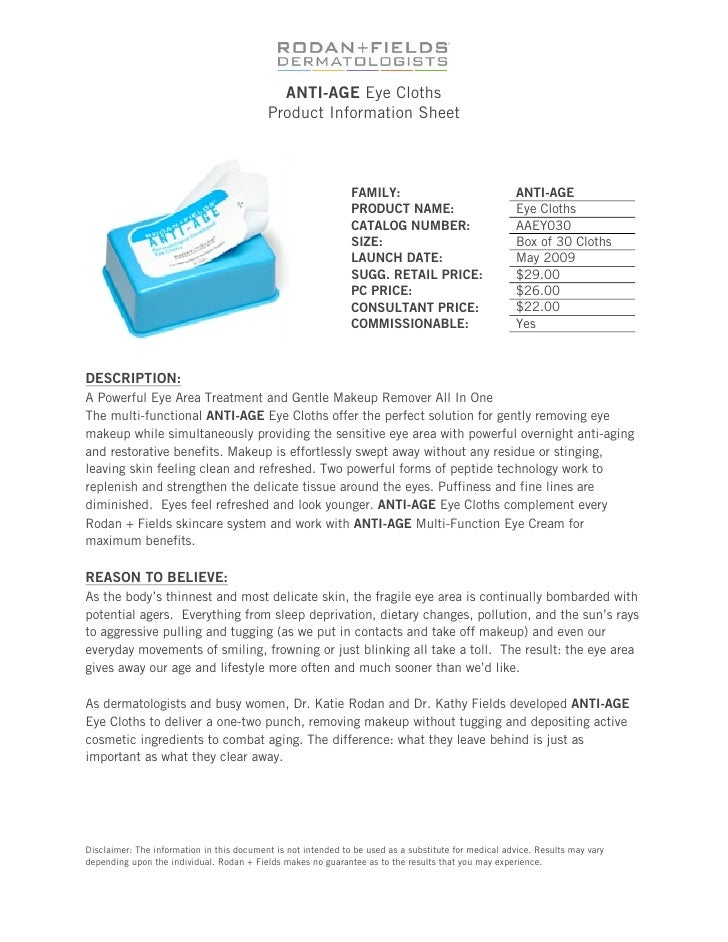 Anti age eye cloths product info sheet publicscrutiny Choice Image