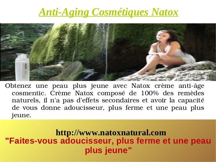 Anti-Aging Cosmétiques NatoxObtenez une peau plus jeune avec Natox crème antiâge cosmentic. Crème Natox compo...