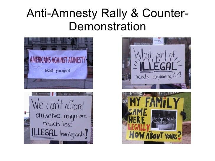 Anti-Amnesty Rally & Counter-Demonstration