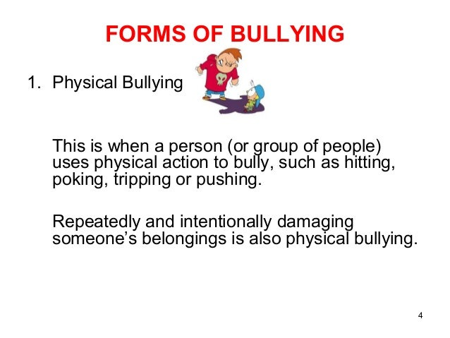 Anti bullying. salient points