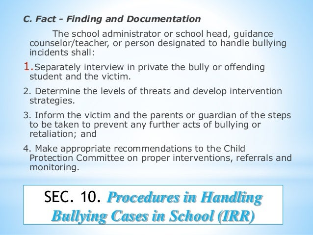 anti bullying act of 2012 Definition of bullying: (as provided in act 861 of 2012) a pattern of one or more of the following: • gestures, including but not limited to obscene gestures and.