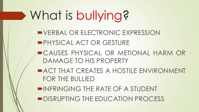 Anti bullying act of 2013