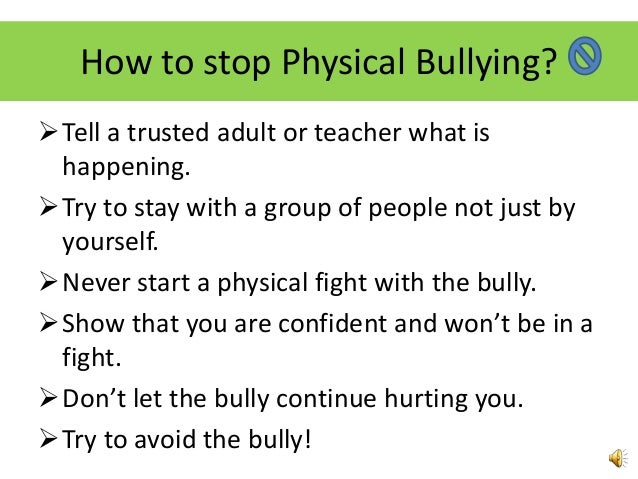 how to stop bullying Get help now bullying can affect you in many ways you may lose sleep or feel sick you may want to skip school you may even be thinking about suicide.