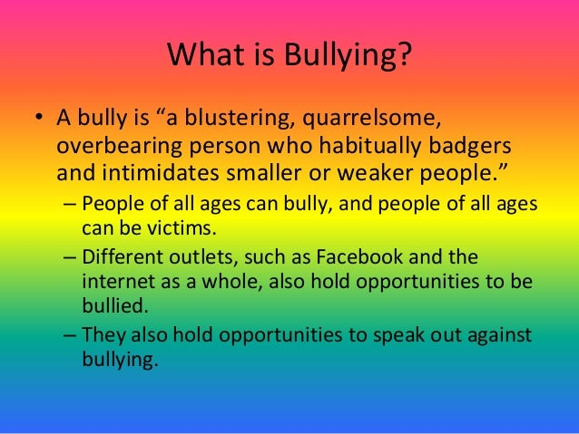 Anti bullying campaign