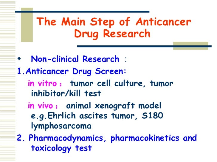 anti cancer drug screening in vitro essay In vitro and in vivo anti-cancer activity of formononetin on human cervical cancer cell line hela  be used as an anti-cancer drug for cervical cancer in the future .