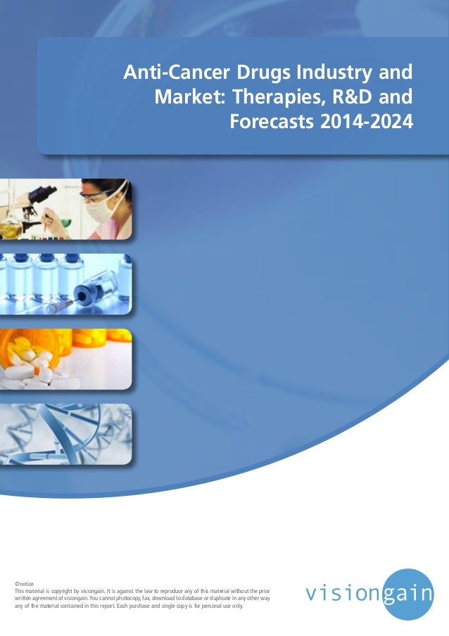 Anti-Cancer Drugs Industry and Market: Therapies, R&D and Forecasts 2014-2024 ©notice This material is copyright by vision...