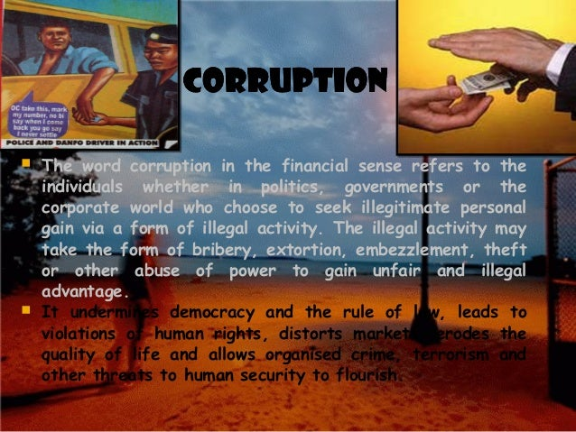 Corruption a threat to democracy essay