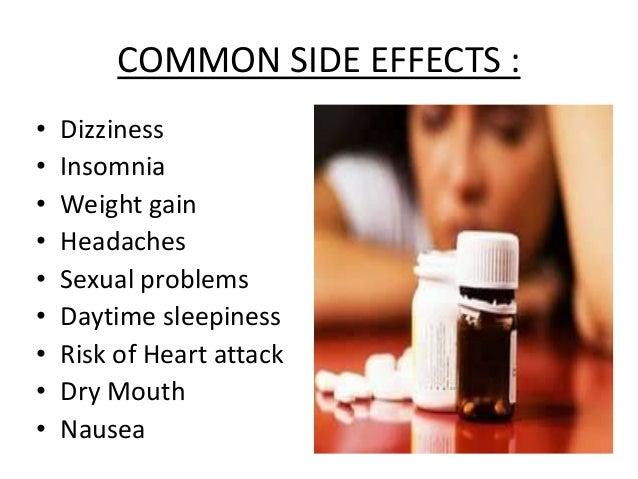 anti depressants parmacolgy23 common side effects