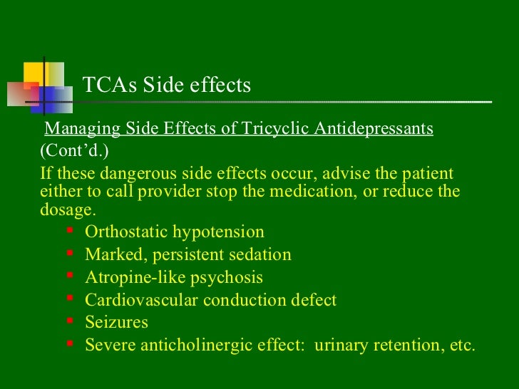 Amitriptyline Side Effects When Stopping