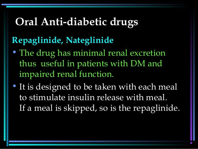 oral anti diabetic drugs Type ii diabetics receive injections if their disease cannot be controlled by diet,  exercise, and oral medication insulin cannot be taken orally because it is a.
