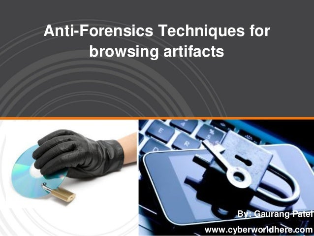 Anti-Forensics Techniques for browsing artifacts By: Gaurang Patel www.cyberworldhere.com