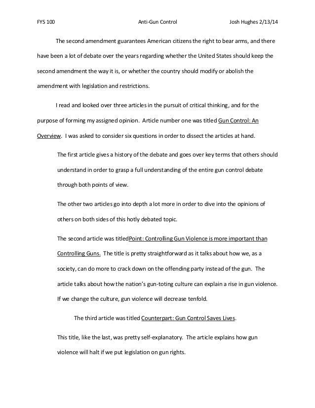 pro gun control argument essay pro gun control essay compucenter  persuasive essay against gun control gxart orggun control essays socialsci cogun control essays
