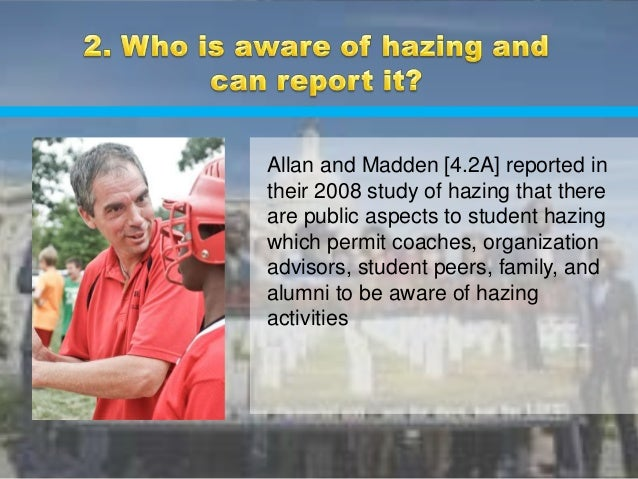 A research on campus hazings