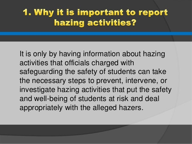 an analysis of hazing in universities 11012018 revisiting the anti-hazing law in selected higher education institutions in nueva ecija, philippines: a policy review.