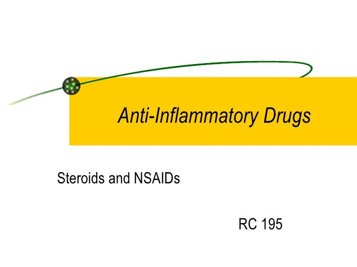 Anti-Inflammatory DrugsSteroids and NSAIDs                       RC 195