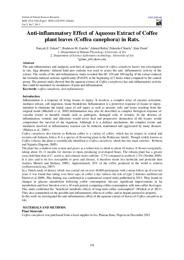Journal of Natural Sciences Research www.iiste.org ISSN 2224-3186 (Paper) ISSN 2225-0921 (Online) Vol.3, No.7, 2013 191 An...