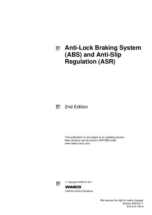 Anti lock braking system anti lock braking system abs and anti slip regulation asr sciox Choice Image