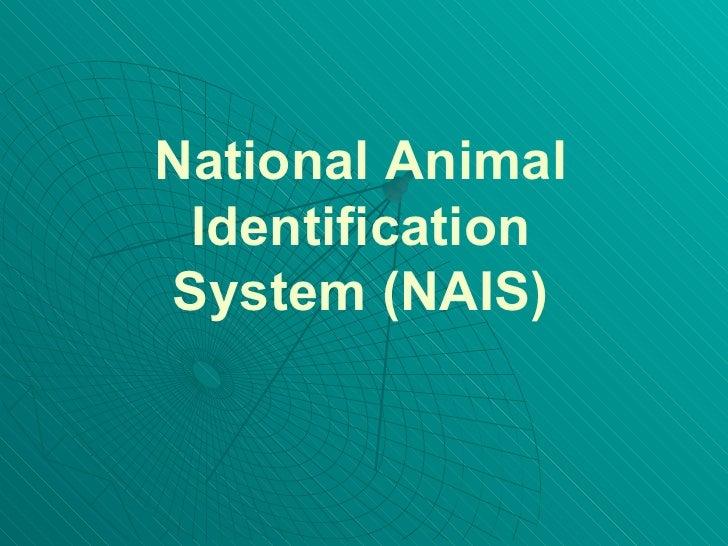 National Animal Identification System (NAIS)