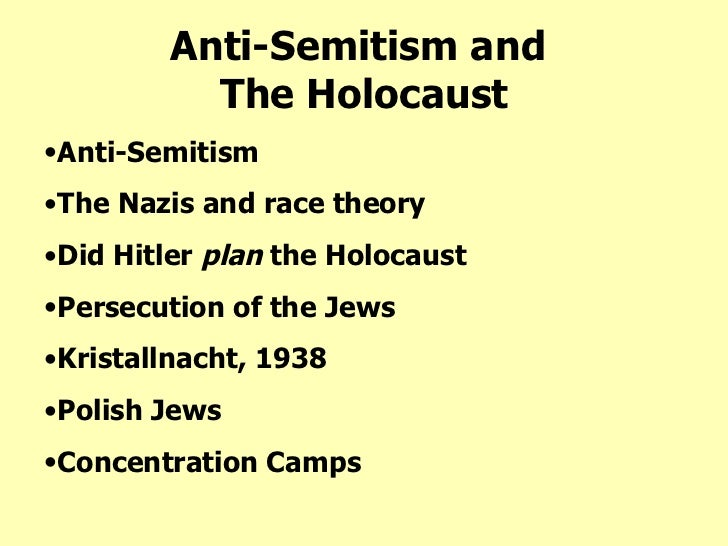 an analysis of anti semitism and the holocaust With more than a million newcomers to germany since 2015, there's been a  resulting rise in anti-semitism now there are growing calls to.