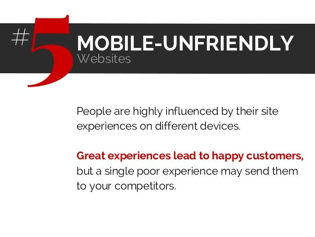 People are highly influenced by their site experiences on different devices. Great experiences lead to happy customers, bu...