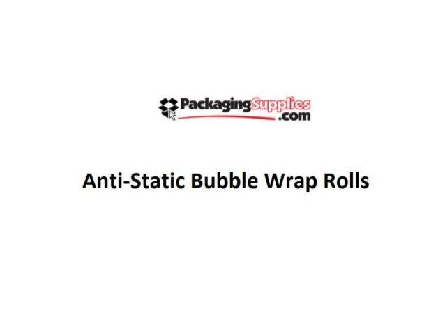 tzlhckag' - Supplies  'R .60!! !     Anti-Static Bubble Wrap Rolls