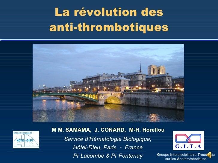 Anti thrombotiques-samama