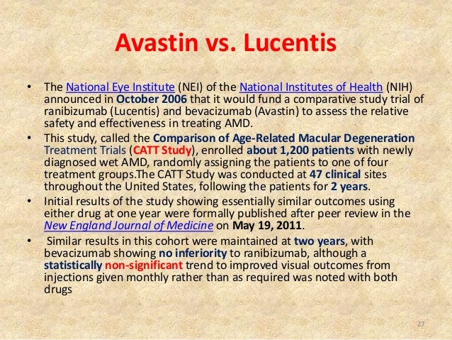 Comparison of AMD Treatments Trials (CATT): Lucentis ...