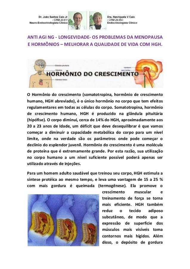 ANTI AGI NG - LONGEVIDADE- OS PROBLEMAS DA MENOPAUSA E HORMÔNIOS – MELHORAR A QUALIDADE DE VIDA COM HGH.  O Hormônio do cr...