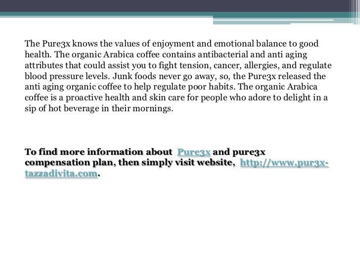 Anti aging organic coffee from pure3x Slide 3
