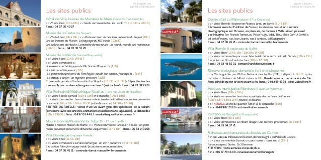 Abbaye de Lérins (île Saint-Honorat) >>> Visite commentée le samedi (9h45 à 12h / 13h45 à 17h) et le dimanche (11h15 à 1...