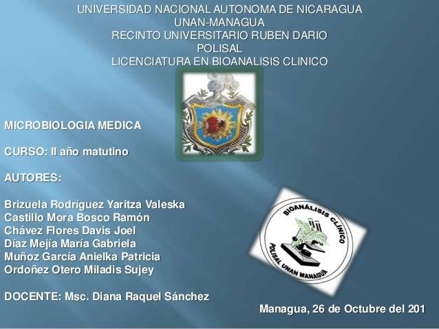 UNIVERSIDAD NACIONAL AUTONOMA DE NICARAGUA                            UNAN-MANAGUA                  RECINTO UNIVERSITARIO ...