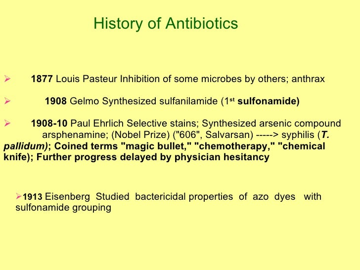 Antibiotic History