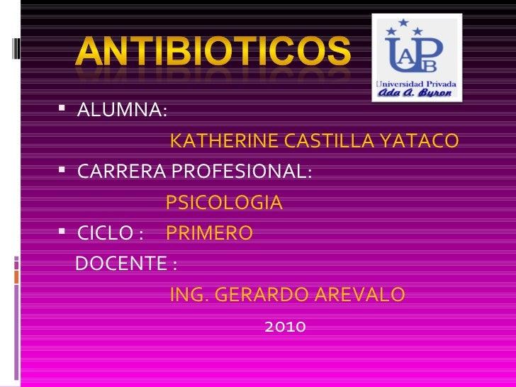 <ul><li>ALUMNA:  </li></ul><ul><li>  KATHERINE CASTILLA YATACO </li></ul><ul><li>CARRERA PROFESIONAL:  </li></ul><ul><li> ...