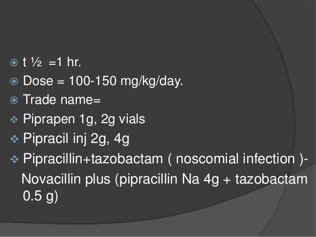 Beta-lactamase inhibitors Clavulanic acid, Sulbactam and Tazobactam They contain beta-lactam ring but themselves, do not h...