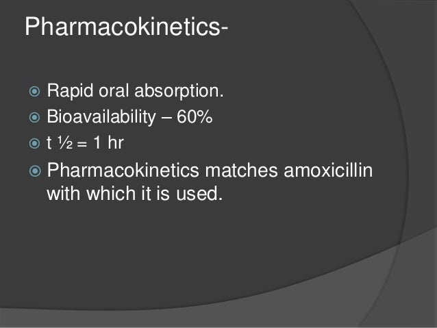 Uses-  Addition of clavunic acid restablises the activity of amoxicillin against beta lactamase producing resistant Staph...